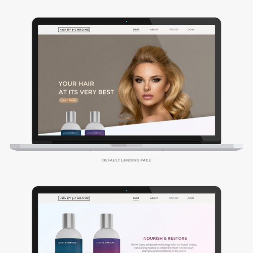 Beauty Product web page design