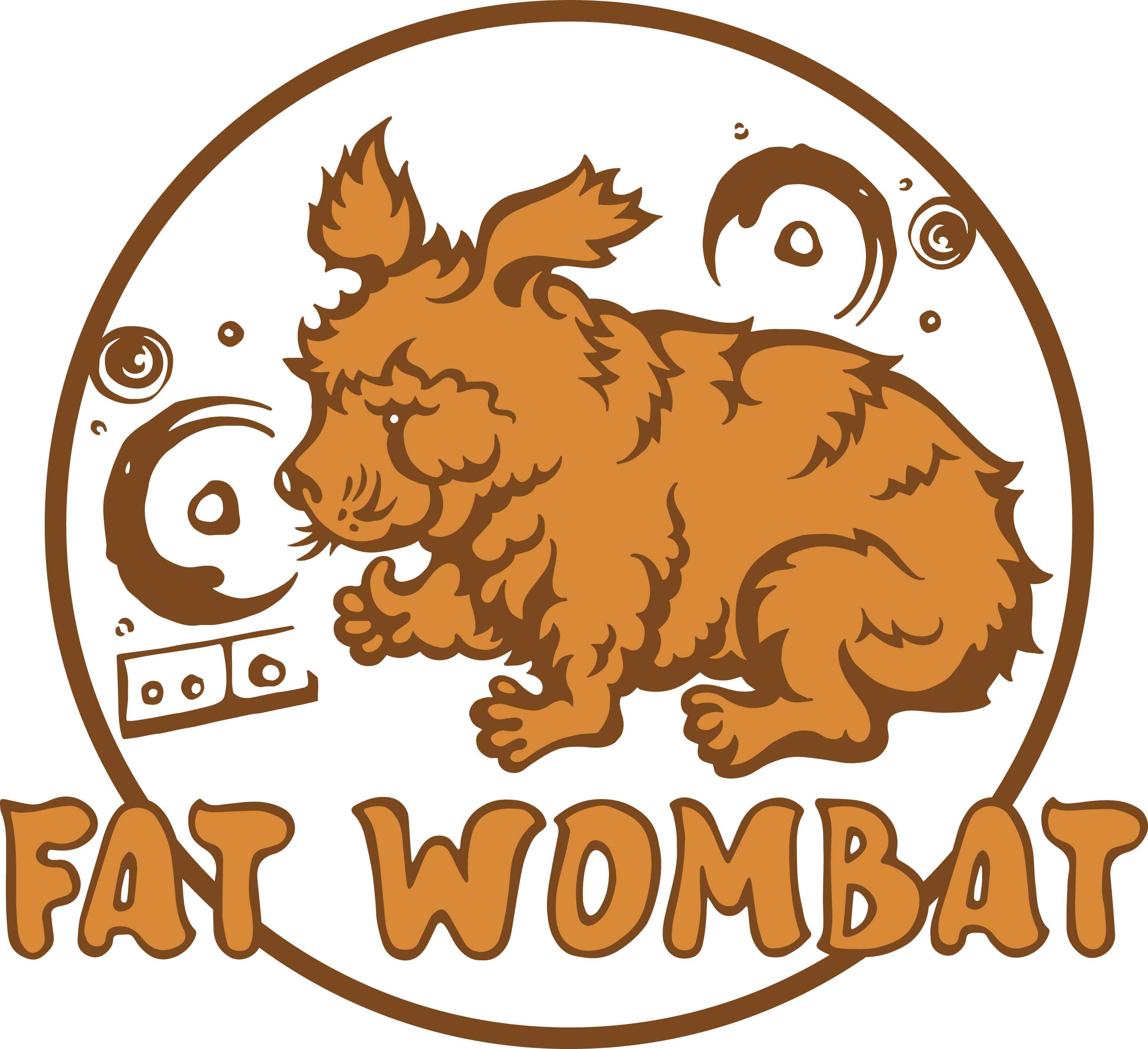 "T-shirt design for ficticious Ska band ""Red Wombat"""