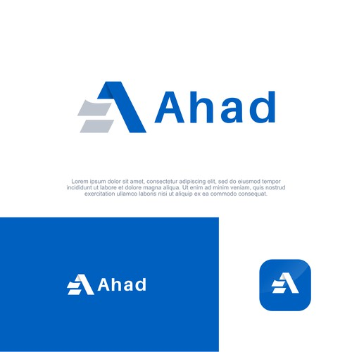 Bold and clean logo concept for Ahad