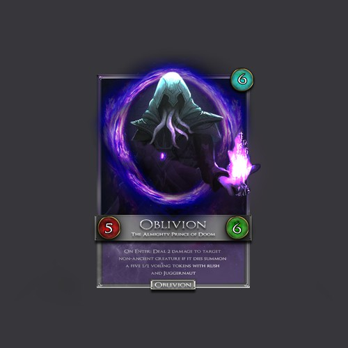 Card concept for a digital card game