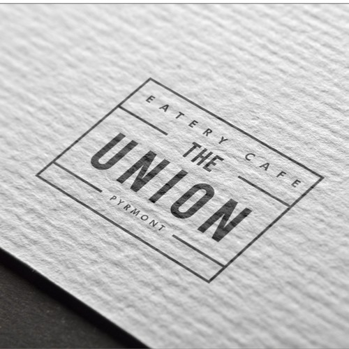 Logo for eatery cafe THE UNION
