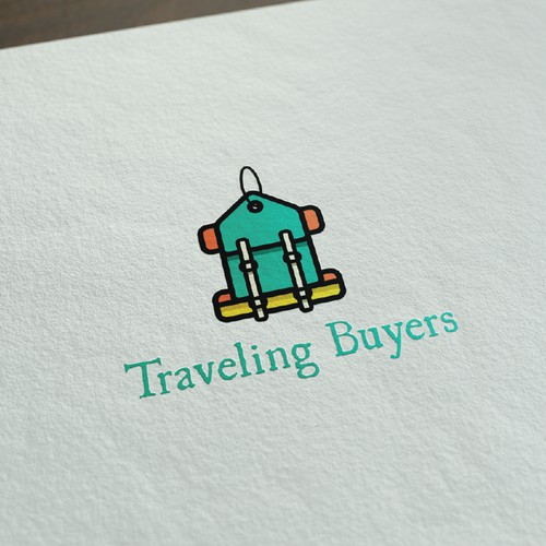 fun colourful shopping/travel logo
