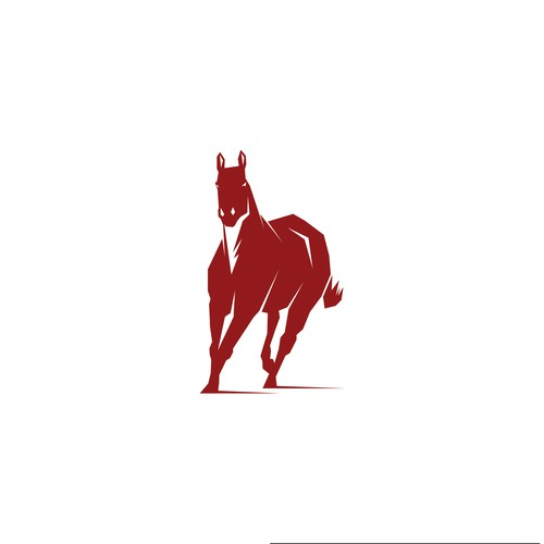 Horse logo with a small amount of negative space