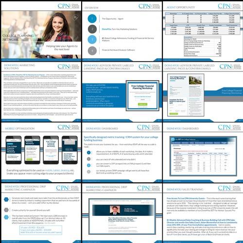 Winning Powerpoint Design for College Planning Network