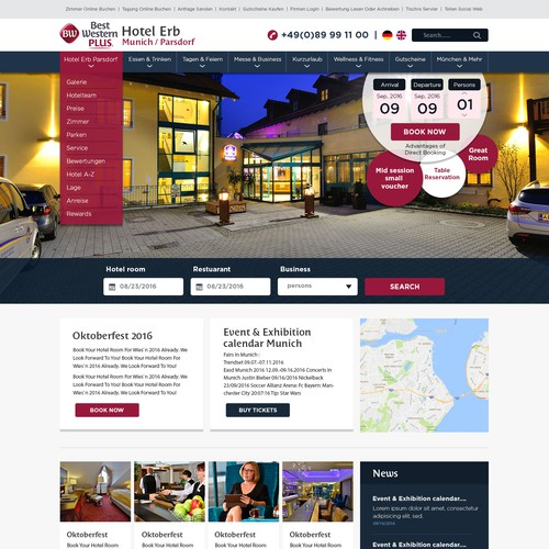 Hotel Responsive Website Design