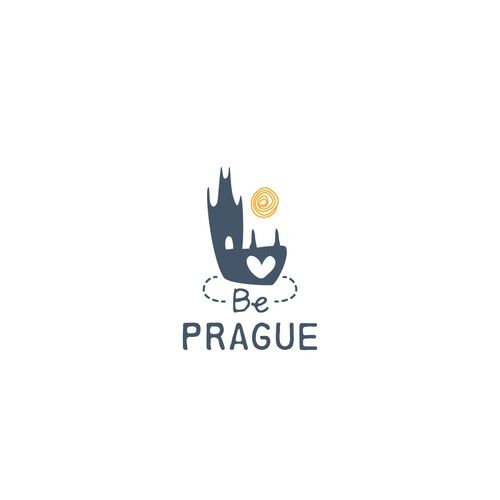 Logo concept for luxury apartment rental in Prague
