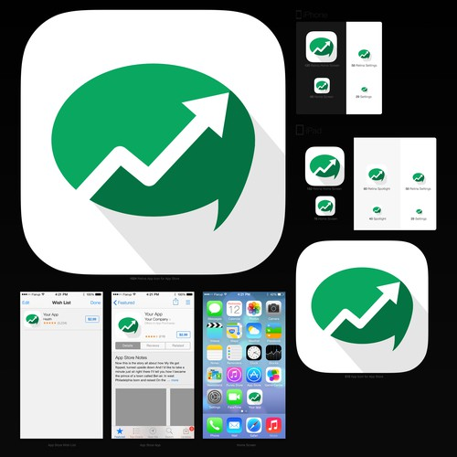 App Icon for iOS 7 stock & social app