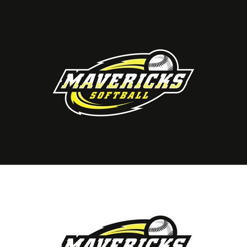 Logodesign for mavericks baseball