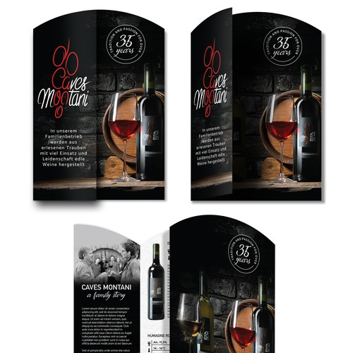 Winery gate fold brochure