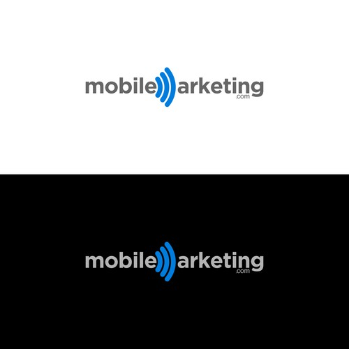 Create a Wordmark Logo for a Mobile Marketing Company