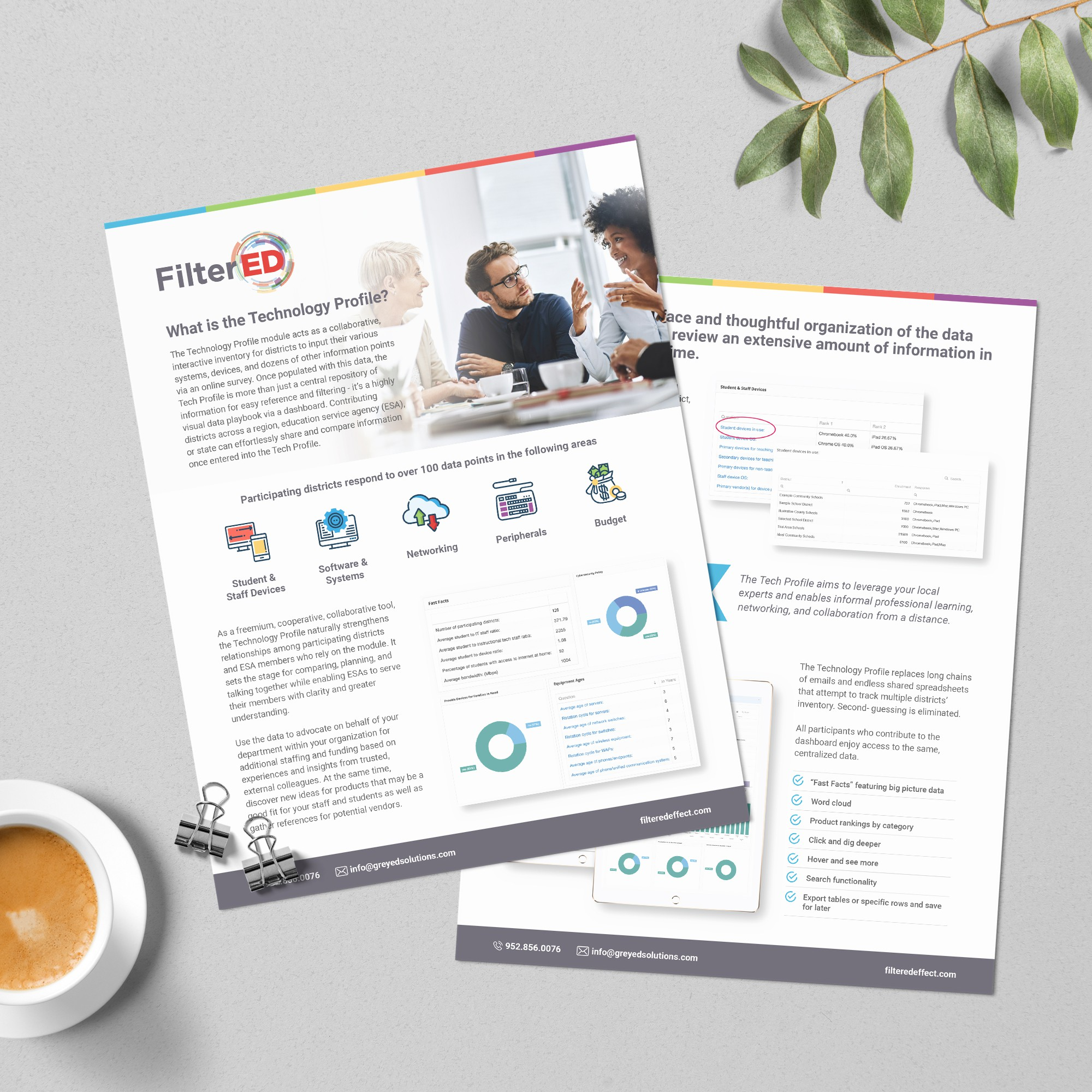 New collateral for expanded product offering