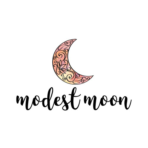 Create a whimsical moon logo