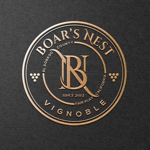 logo concept for a luxury winery
