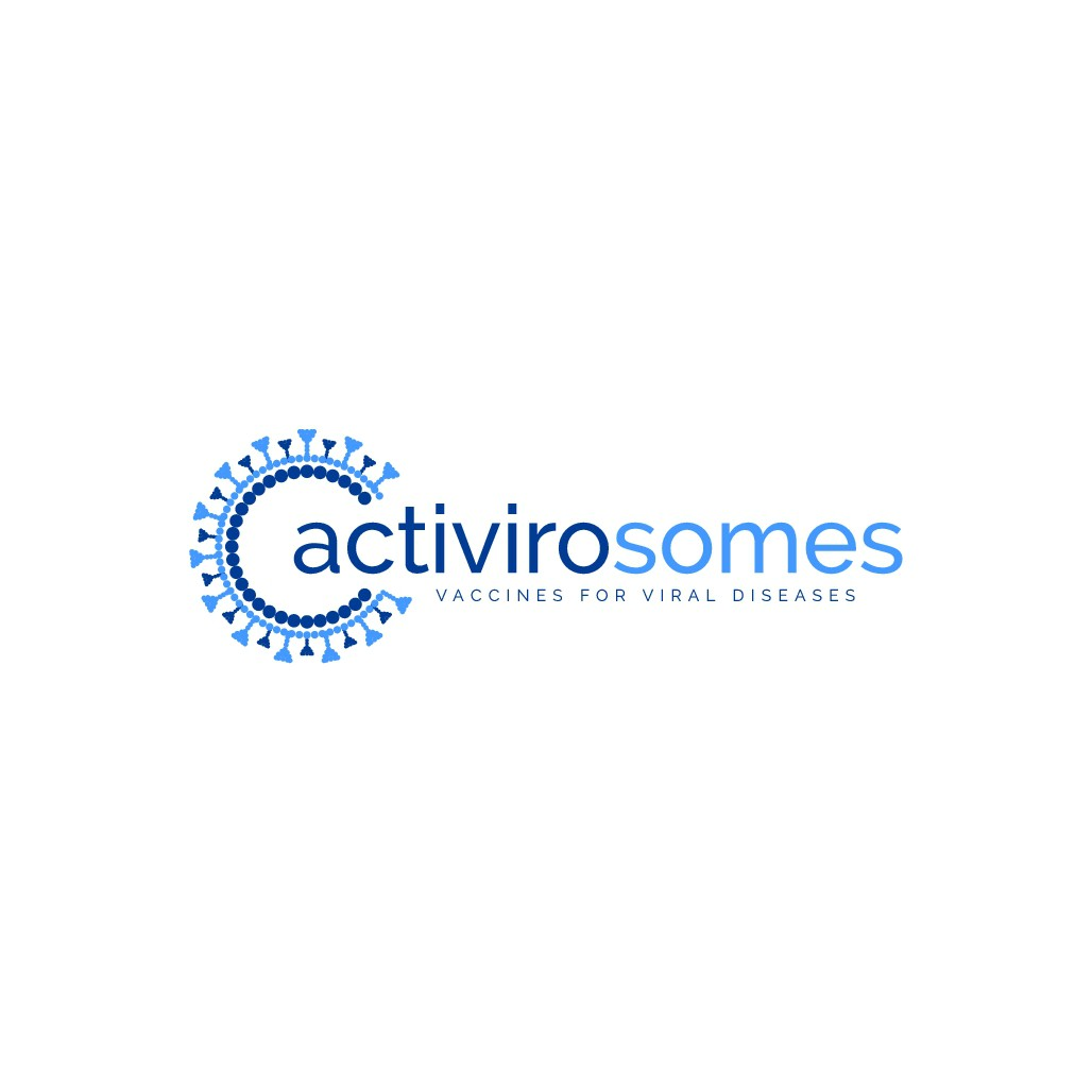 A logo based on the measles virus for a start up vaccines development company