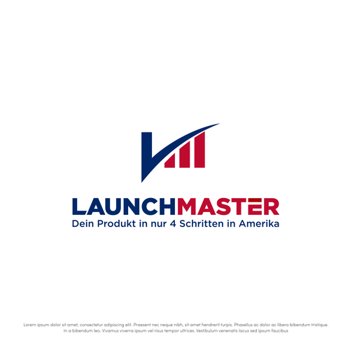 Bold logo for Launch Master