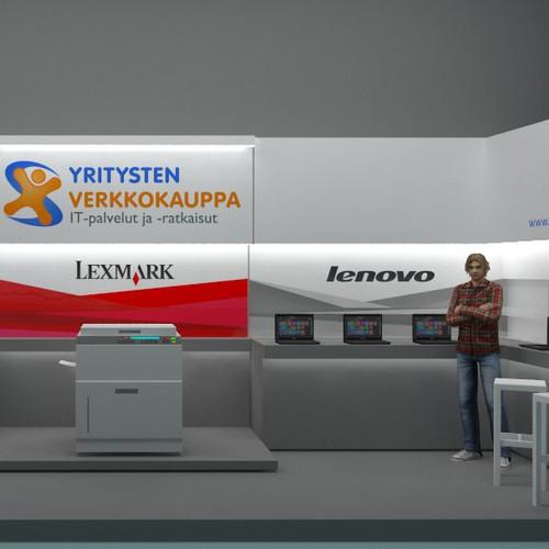 Yritystenverkkokauppa.fi (Lenovo, Dell and Lexmark) Exhibition Design