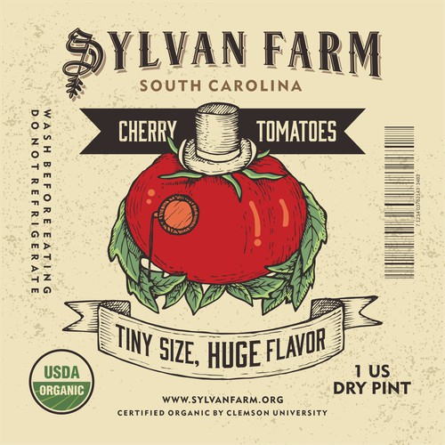 Label Design for Sylfan Farm Tomato