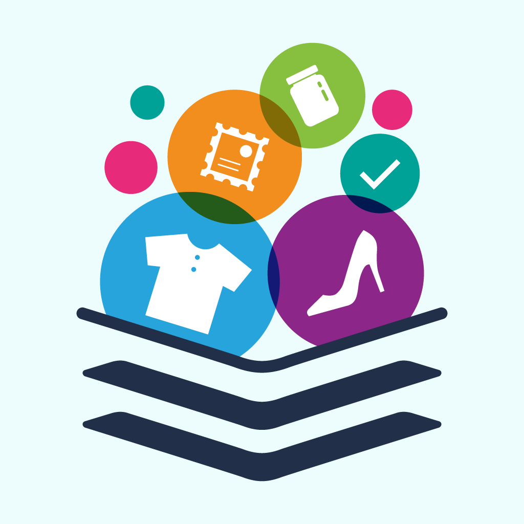 Stand out mobile app icon for collection management app