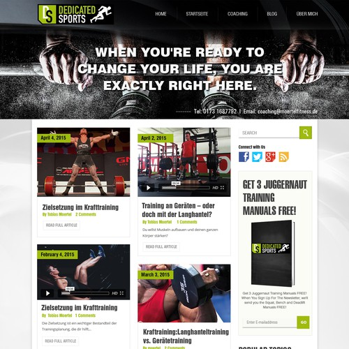 WordPress theme for an elite sports portal!