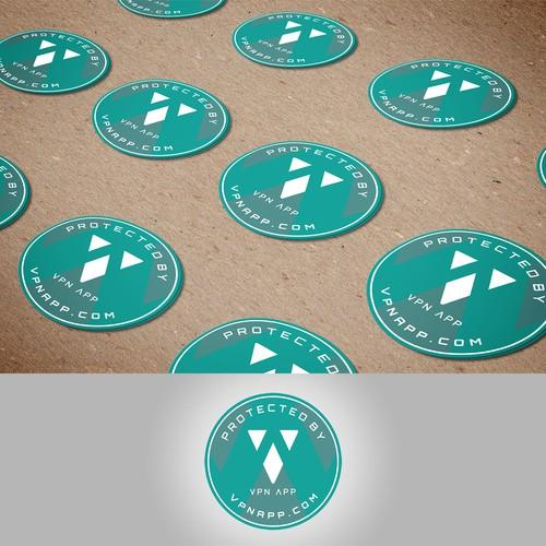 VPN APP Laptop Sticker