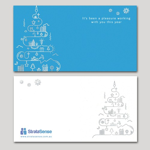 Corporate Christmas Greeting Card