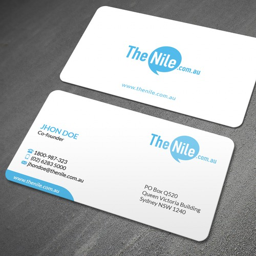 Create a business card for our online retail company