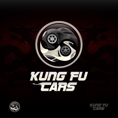 Yin and Yang concept for Kung Fu Cars - Epic Logo Design entry