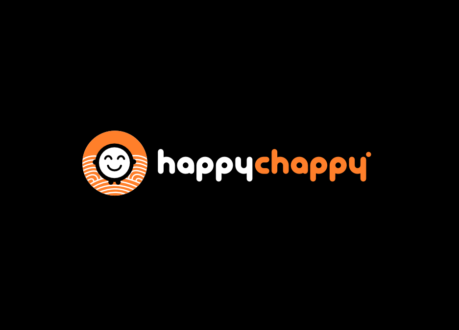 Create a fun, premium-looking logo for Happy Chappy!