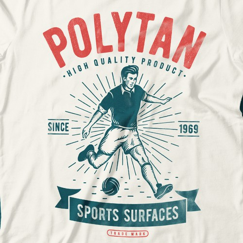 vintage logo for sports surfaces company