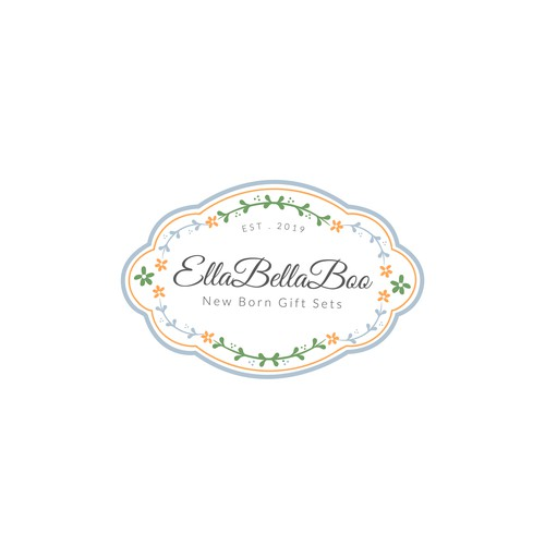 Classic logo concept for an online retail company that supplies newborn gift sets