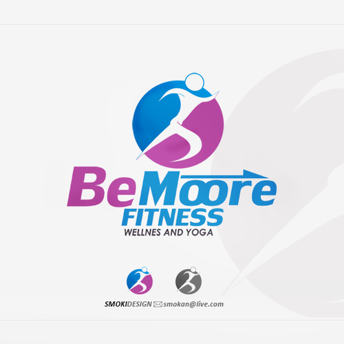 Create the next logo for Be Moore Fitness