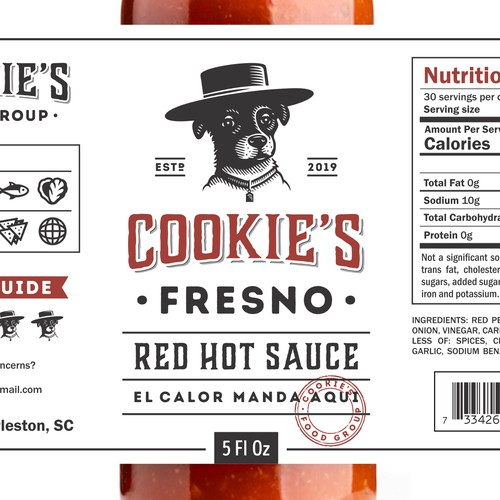 Cookie's Fresno Red Hot Sauce