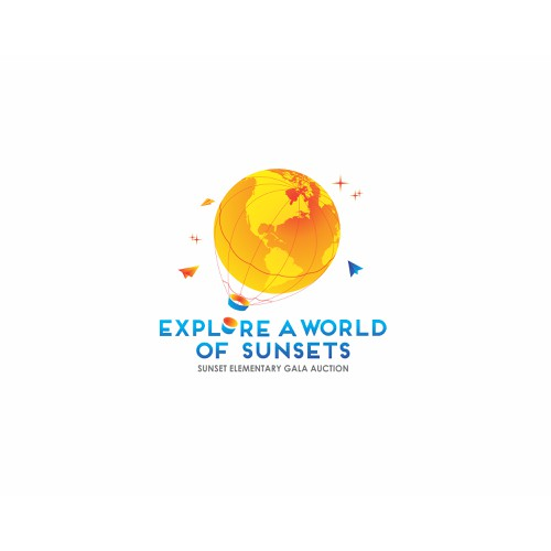 Elementary school auction looking for fun adventure/globe themed logo!