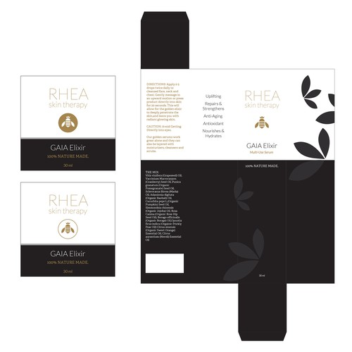 New Labels needed for high end skin care company.
