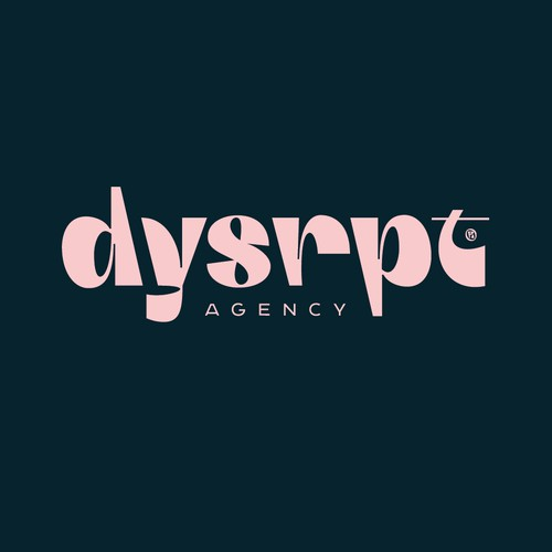 dysrpt logo for an influencer-agency