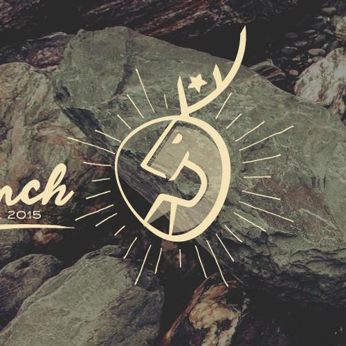 Logo for deer hunting L Ranch