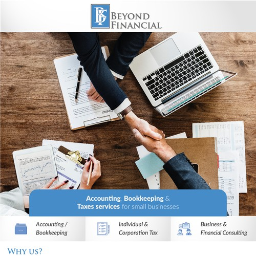 Banner Ad for Finance and Accounting firm
