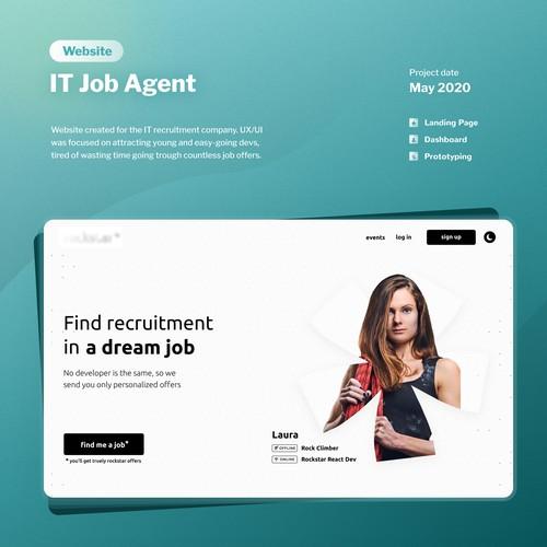 IT Job Agent website