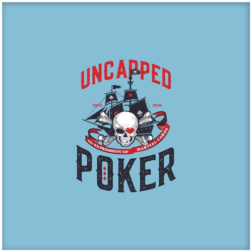 A logo for a poker team