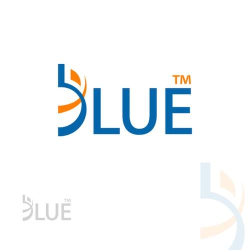 Blue logo  for spots wear