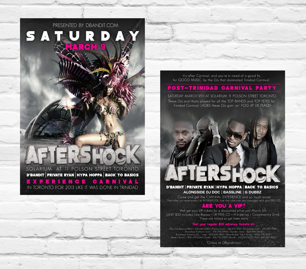 Create the next postcard or flyer for AfterShock