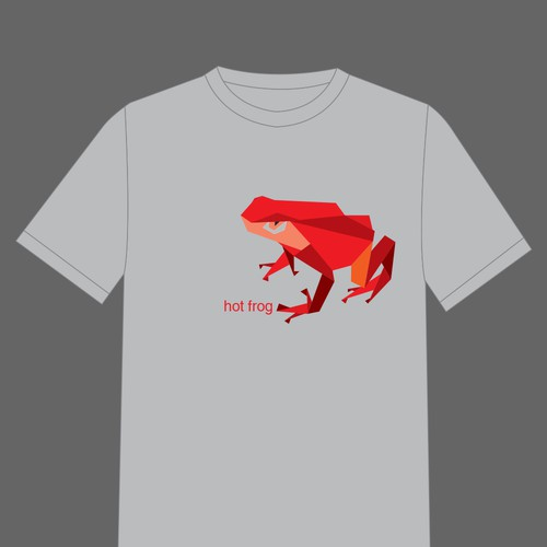 """T-Shirt graphic : """"Hot Frog"""""""