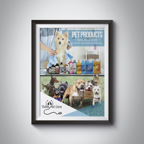 Pet Products sold Here Poster (needed by small pet product manufacturer)