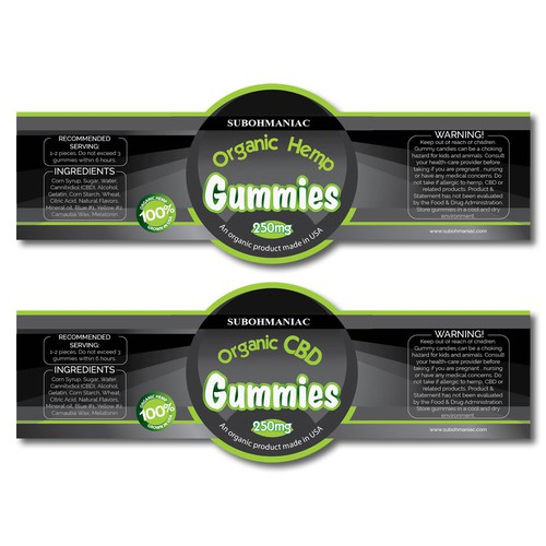 Label concept for CBD product
