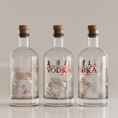 Label for High End Artisan Vodka
