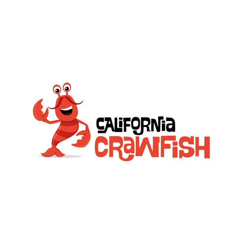 Cartoon crawfish mascot