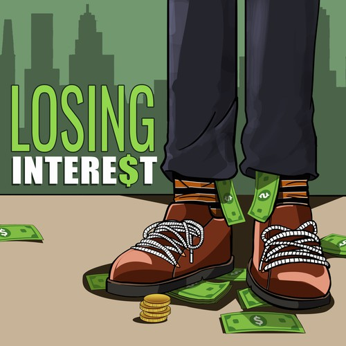 Losing Interest  podcast cover art for new finance