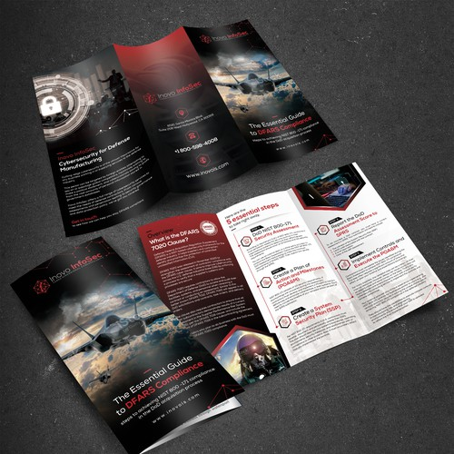 Punchy Cybersecurity Corporate brochure for US Defense Contractor Audience