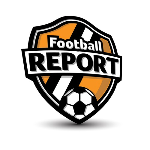 Create a tv show logo for the first 24 hour soccer news report in America