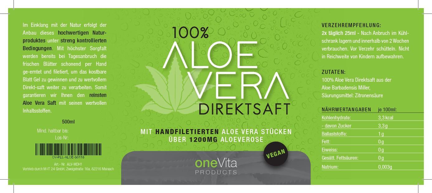 Aloe Vera Saft braucht ein neues Flaschenetikett